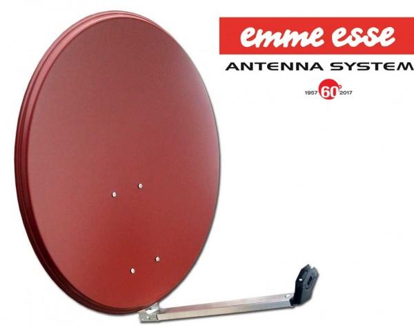 Original Emme Esse 80 cm Sat Antenne Stahl Spiegel Rot Ziegelrot