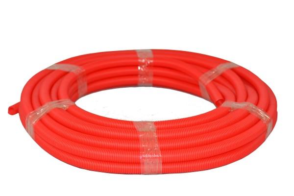 Flexibles Wellrohr M28 25 m Rot Ring Elektrorohr Schutzrohr Leerrohr