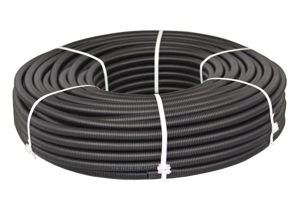 Flexibles Wellrohr M28 100 m Schwarz Ring Elektrorohr Schutzrohr Leerrohr